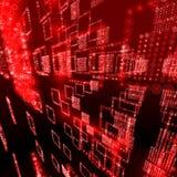 Κόκκινη ψηφιακή βάση δεδομένων σφαιρών Στοκ Εικόνα