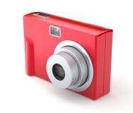 Κόκκινη ψηφιακή συμπαγής κάμερα φωτογραφιών στο λευκό Στοκ εικόνες με δικαίωμα ελεύθερης χρήσης