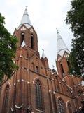 Κόκκινη όμορφη εκκλησία, Λιθουανία Στοκ Εικόνα