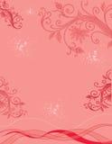 Κόκκινη floral ανασκόπηση Στοκ Εικόνα