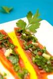 Κόκκινη peperoni συνταγή Στοκ Εικόνα