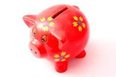 Κόκκινη piggy τράπεζα Στοκ Εικόνες