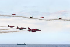 Κόκκινη RAF βελών ομάδα παρουσίασης Στοκ Φωτογραφία