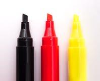 Κόκκινοι, άσπροι και κίτρινοι δείκτες Στοκ εικόνα με δικαίωμα ελεύθερης χρήσης