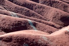 Κόκκινοι αμμόλοφοι αργίλου badlands Στοκ φωτογραφία με δικαίωμα ελεύθερης χρήσης