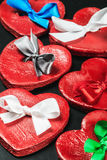 Κόκκινοι βαλεντίνοι καρδιών στοκ εικόνες με δικαίωμα ελεύθερης χρήσης