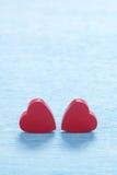 κόκκινοι βαλεντίνοι καρ&de Στοκ Εικόνες