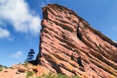Κόκκινοι βράχοι κοντά στο Ντένβερ, Κολοράντο ΗΠΑ στοκ φωτογραφία