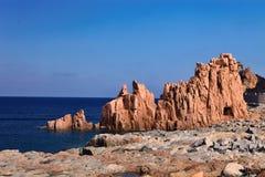 Κόκκινοι βράχοι Arbatax, Σαρδηνία, Ιταλία Στοκ εικόνα με δικαίωμα ελεύθερης χρήσης