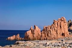 Κόκκινοι βράχοι Arbatax, Σαρδηνία, Ιταλία Στοκ φωτογραφία με δικαίωμα ελεύθερης χρήσης