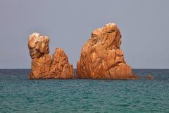 Κόκκινοι βράχοι Arbatax, Σαρδηνία, Ιταλία Στοκ Εικόνες