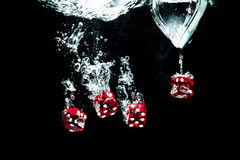 Κόκκινοι κύβοι Στοκ εικόνες με δικαίωμα ελεύθερης χρήσης