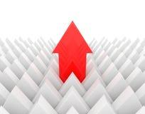 Κόκκινοι μόλυβδοι arrrow Στοκ Εικόνα