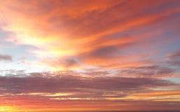 Κόκκινοι ουρανοί ανωτέρω Στοκ Εικόνες