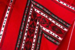Κόκκινοι παραδοσιακοί ρουμανικοί τάπητες Στοκ Εικόνες