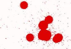 Κόκκινοι παφλασμοί μελανιού Στοκ Εικόνα