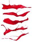 Κόκκινοι παφλασμοί Στοκ φωτογραφίες με δικαίωμα ελεύθερης χρήσης