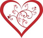 κόκκινοι στρόβιλοι καρδιών Στοκ Φωτογραφίες