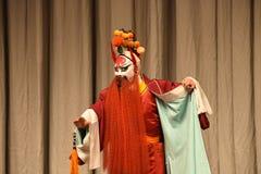 """Κόκκινοι χρωματισμένοι γενειάδα στρατηγοί γυναικών του Πεκίνου Opera"""" προσώπου Yang Family† Στοκ Εικόνες"""