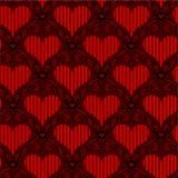 κόκκινος άνευ ραφής καρδ&io Στοκ φωτογραφία με δικαίωμα ελεύθερης χρήσης