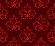 κόκκινος άνευ ραφής προτύπ& Στοκ φωτογραφίες με δικαίωμα ελεύθερης χρήσης