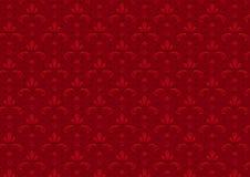κόκκινος άνευ ραφής τρύγος προτύπων Στοκ Εικόνες