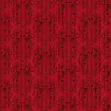 κόκκινος άνευ ραφής τρύγος προτύπων Στοκ Εικόνα