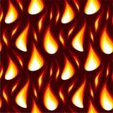 κόκκινος άνευ ραφής φλογ Στοκ Εικόνες