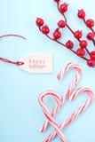 Κόκκινος, άσπρος και χλωμός - μπλε υπόβαθρο Χριστουγέννων Στοκ εικόνα με δικαίωμα ελεύθερης χρήσης