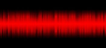 Κόκκινος ήχος στο μαύρο υπόβαθρο Στοκ εικόνα με δικαίωμα ελεύθερης χρήσης