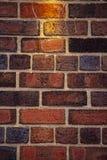 Κόκκινος αγγλικός τοίχος τούβλων στοκ φωτογραφίες