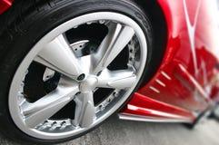 κόκκινος αθλητισμός αυτοκινήτων Στοκ Φωτογραφία