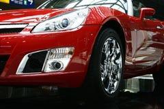 κόκκινος αθλητισμός αυτοκινήτων Στοκ φωτογραφία με δικαίωμα ελεύθερης χρήσης