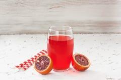 Κόκκινος αιματηρός χυμός από πορτοκάλι Στοκ φωτογραφίες με δικαίωμα ελεύθερης χρήσης