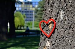Κόκκινος αριθμός καρδιών στο πάρκο Στοκ εικόνες με δικαίωμα ελεύθερης χρήσης