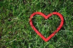 Κόκκινος αριθμός καρδιών Στοκ εικόνες με δικαίωμα ελεύθερης χρήσης
