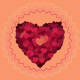 κόκκινος αυξήθηκε αφηρημένες καρδιές Αγάπη Στοκ Εικόνες