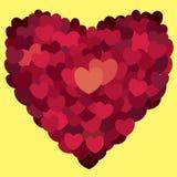 κόκκινος αυξήθηκε αφηρημένες καρδιές Αγάπη Στοκ εικόνες με δικαίωμα ελεύθερης χρήσης