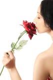 κόκκινος αυξήθηκε γυναί&k Στοκ εικόνα με δικαίωμα ελεύθερης χρήσης