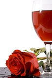 κόκκινος αυξήθηκε κρασί Στοκ Φωτογραφία