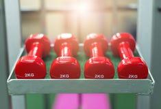 Κόκκινος αλτήρας στη γυμναστική Στοκ Φωτογραφίες
