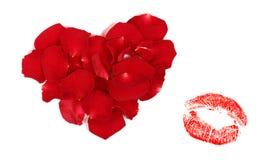 κόκκινος βαλεντίνος Στοκ εικόνα με δικαίωμα ελεύθερης χρήσης
