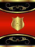 κόκκινος βασιλικός πεταλούδων εμπορικών σημάτων διανυσματική απεικόνιση