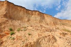 Κόκκινος βράχος απότομων βράχων αργίλου Στοκ εικόνα με δικαίωμα ελεύθερης χρήσης