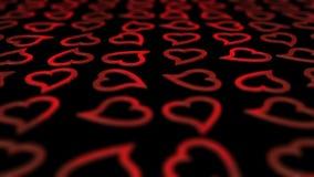 Κόκκινος βρόχος υποβάθρου καρδιών. απόθεμα βίντεο
