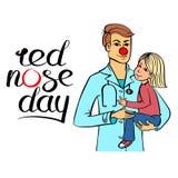 Κόκκινος γιατρός μύτης Στοκ Εικόνες