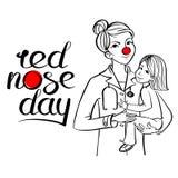 Κόκκινος γιατρός μύτης Στοκ εικόνα με δικαίωμα ελεύθερης χρήσης