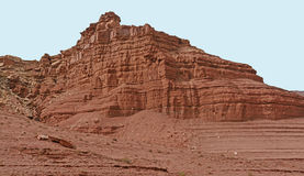 Κόκκινος γκρεμός βράχου στην έρημο στοκ εικόνα με δικαίωμα ελεύθερης χρήσης