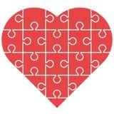 Κόκκινος γρίφος καρδιών Στοκ Φωτογραφία