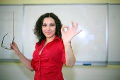 κόκκινος δάσκαλος πουκάμισων Στοκ φωτογραφία με δικαίωμα ελεύθερης χρήσης